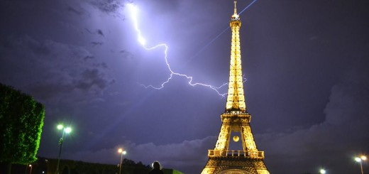 The Eiffel Tower Struck By Lightning